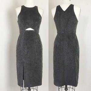 🇺🇸 HALSTON HERITAGE ULTRA SUEDE SHEATH DRESS